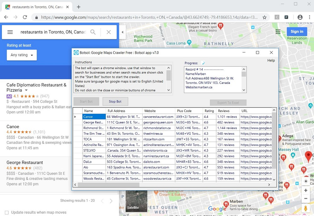 free google maps data extractor